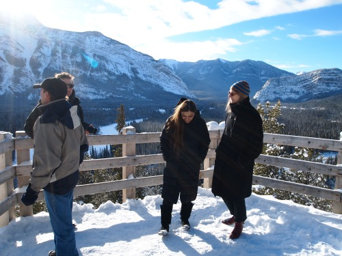 This is Sahara's first time in the Rockies, and the University of Calgary graciously offered to bring the company to Banff for a firsthand look at the mountains.