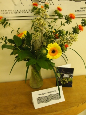 A welcome gift from Cathy Levy and the NAC staff. Photo by Sahara Morimoto.