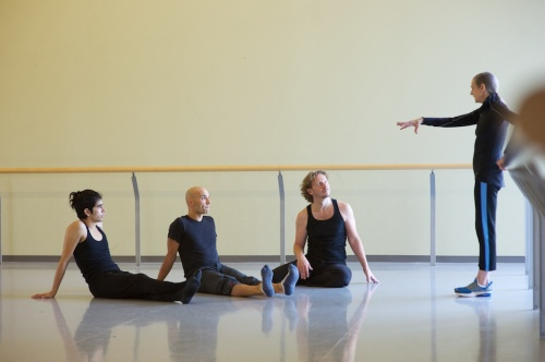 Mateo with dancers Ric Brown and Sean Ling, and Peggy Baker. Photo: Makoto Hirata.