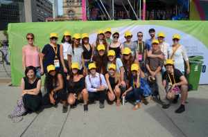 Rosedale grade 12 class along with a few of our company dancers and FluxDelux production team at PANAMANIA, August 2015.
